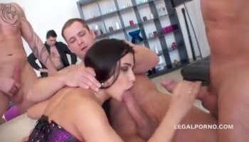 Sex appeal lesbos fondle every other and use toys
